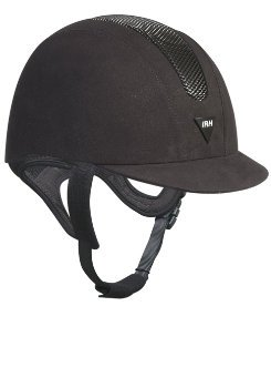 IRH SSV ATH Helmet - Size:7 1/4 Color:Black/Grey Suede (Irh Ath Helmet)