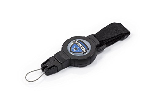 T-REIGN-Medium-Outdoor-Retractable-Gear-Tether-36-Kevlar-Cord-Retracts-6oz-Black-Polycarbonate-Case