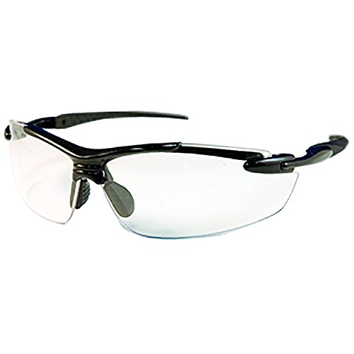 (Ironwear Madison 3006 Series Nylon Protective Safety Glasses, Clear Lens, Black Frame (3006-B-C) )