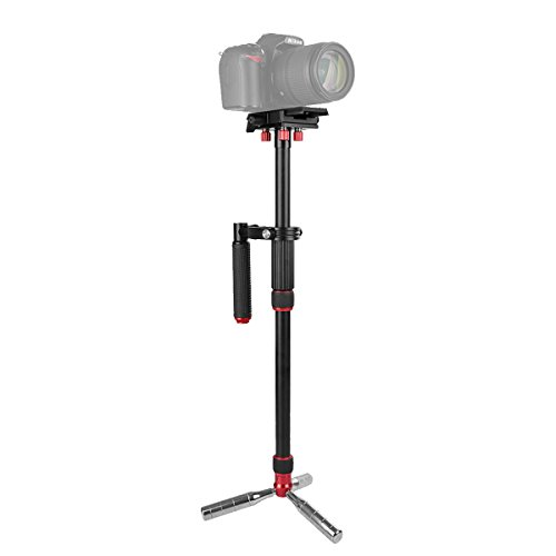 Kamisafe VS1032 Handheld Stabilizer 43 Inch Camera Video Stabilizer Steadicam Tripod Monopod with Quick Release Plate 1/4 3/8 Screw, Load up to 11lbs Compatible with DSLR Camcorder Gopro Cellphone (Best Monopod For Dslr 2019)