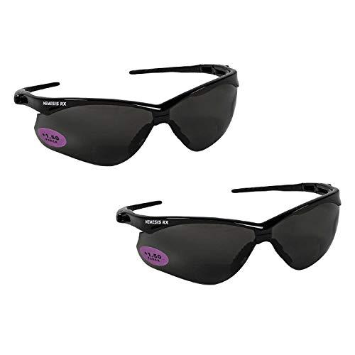 Jackson Safety V60 Nemesis RX Safety Eyewear 22516, Smoke +1.5 Lens Bifocal (2 -