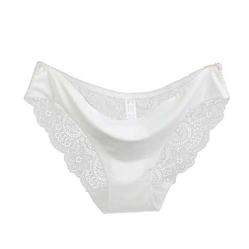 (Bravetoshop 2018 Hot!Women Sexy Lingerie Lace Panties Hollow Underwear Seamless Babydoll Splice (White, S) )