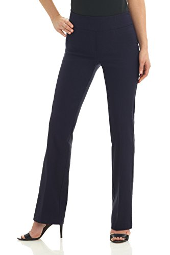 Rekucci Women's Ease in to Comfort Boot Cut Pant (8SHORT,Navy)