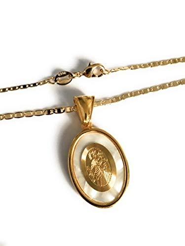 Virgen del Carmen Gold Plated 17.2