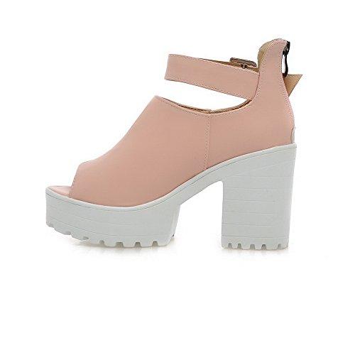 Damen Pink Kaltfutter BalaMasa Übergroße Sandalen ASL05197 Urethan Wasserdichte wxqgOg8d0