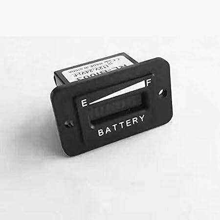 Runleader Indicador de Carga de la batería, indicador de batería de Plomo-ácido, probador de batería; (BI003-12/24V)