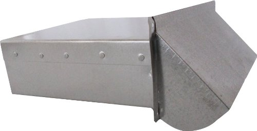 Speedi-Products SM-DWVG 10 3.25-Inch Height by 10-Inch Width Galvanized Wall Vent with Damper and 10-Inch Extension