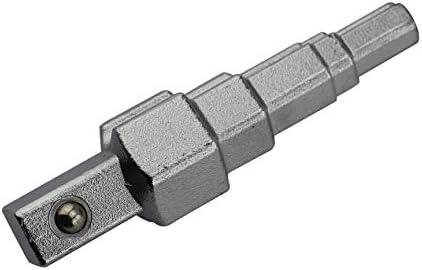 ラジエーターバルブ用ニップル用10-21mmラチェットハンドルハンドツール炭素鋼ラジエータースパナ実用的な段付き多用途-ブラックシルバー