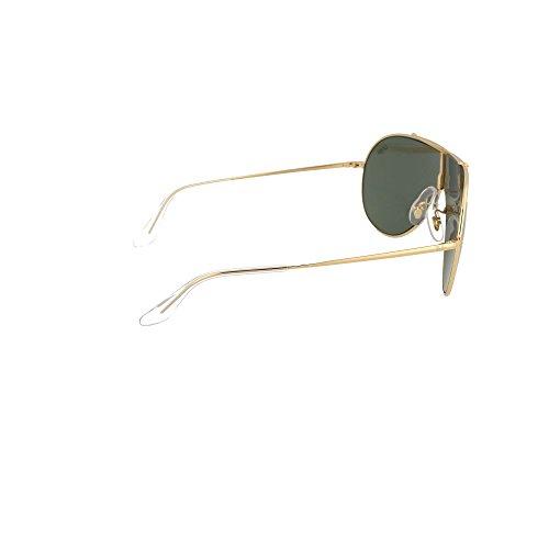 9d656fd852 Ray-Ban Gafas de Sol WINGS RB 3597 GOLD/DARK GREEN unisex Buena ...