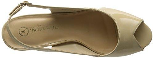Bella Vita Womens Liset Ii Platform Pump Nude Patent