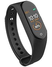 M4 Färgrik skärm Smart armband Pedometer Hälso- och sjukvård Multisport Samtalsavslag Hälsosam sömn Smartklocka - Svart
