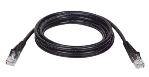 Tripp Lite N001-007-BK-R Cat5e 350MHz Black Snagless Molded Patch Cable RJ45M/M - 7ft Cat5e Snagless Rj45m/m Patch