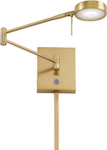 George Kovacs P4308-248, 1 Light LED Swing Arm Wall Lamp, Honey - Transitional Wall Swing