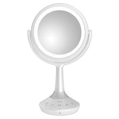 iHome Bluetooth Double-Sided 6-Inch Vanity Mirror Speaker in