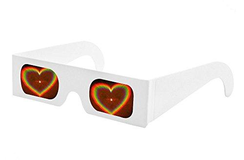 Pack 10 papier d'artifice de en de avec diffraction 10 cadre à pour Lot spectacle Lunettes et feux laser w87TXT