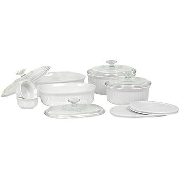CorningWare French White 12-Piece Bake-and-Serve Gift Set