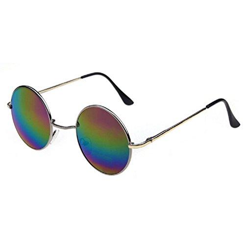 Oro Multicolor de de Gafas años hippie de Marco 60 estilo los sol Lentes wIxIvzBq7
