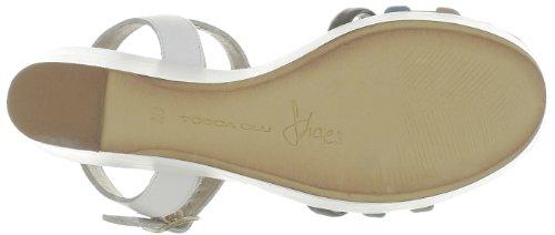 Tosca Blu Shoes - Sandalias de cuero para mujer Blanco (Blanc (C37S Turchese/Sabbia))