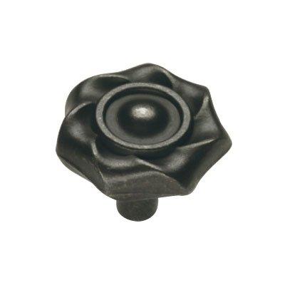 Hickory Hardware PA1312-BI 1-1/4-Inch Charleston Blacksmith Cabinet Knob, Black (Charleston Blacksmith Cabinet)