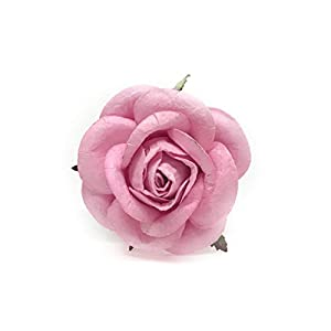 """2"""" Pink Paper Flowers Paper Rose Artificial Flowers Fake Flowers Artificial Roses Paper Craft Flowers Paper Rose Flower Mulberry Paper Flowers 10 Pieces 15"""