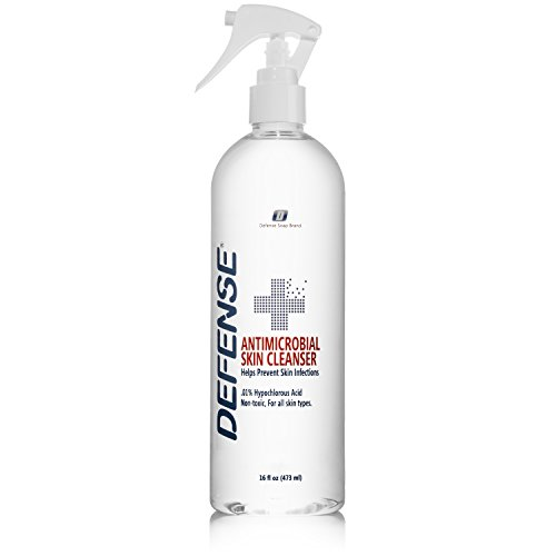 Defense Antimicrobial Skin Cleanser 16oz | Spray on Wounds and Scrapes to Maintain Proper Hygiene