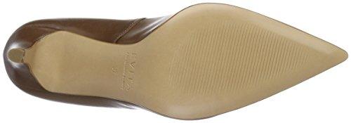 cognac Punta 26 Shoes Scarpe Tacco Evita Marrone Donna Jessica Col Chiusa wfqA7gO