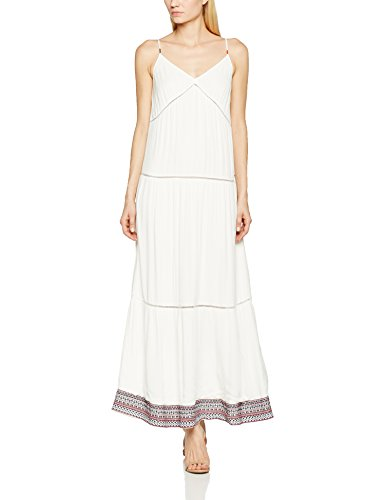 Hilfiger Denim Thdw Strappy Maxi Dress S/L 29, Vestido para Mujer Blanco (Snow White)