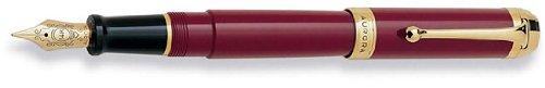 Aurora Talentum Burgundy w/ Gold Trim Extra Fine Point Fountain Pen - AU-D12X-EF