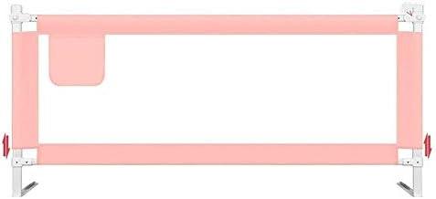 エキストラベッドのすべての種類のために長い適したベッドレール子供Bedguard折りたたみ安全ベッドレール、サイズ組み合わせ自由ピンクの王女をToddle (Color : Pink, Size : 1.8m)