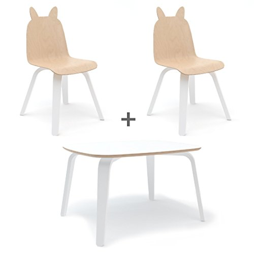 - Oeuf Rabbit Play Chairs and Table Set in Birch