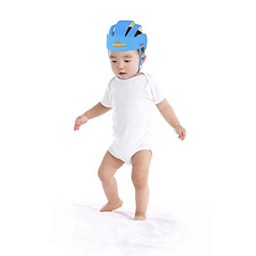 Adjustable Infant Safety Helmet Head guard Protective Harnesses Hat (Blue)