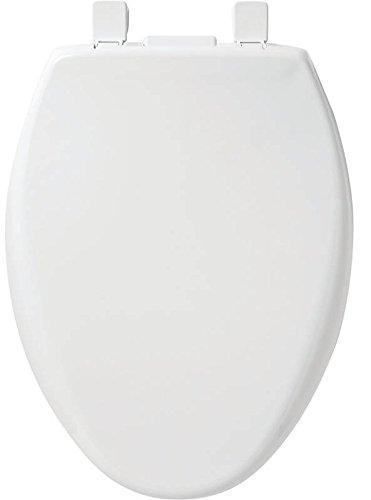 Mayfair Auto - MAYFAIR Nightlight Toilet Seat will Slow Close Never Loosen, ELONGATED, Long Lasting Solid Plastic, White, 187SLNL