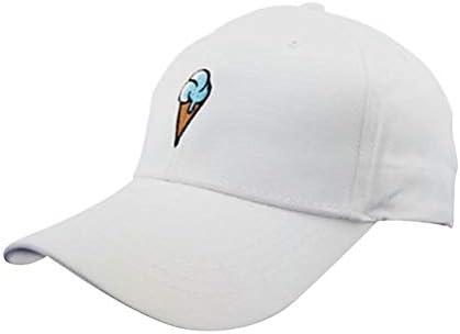 Ruikey 漫画のアイスクリーム刺繍野球帽 を綴ります 旅行やスポーツの練習に適したスタイリッシュな帽子