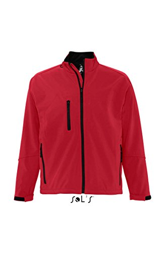 SOL´S - Men´s Softshell Jacket Relax XXL,Pepper Red