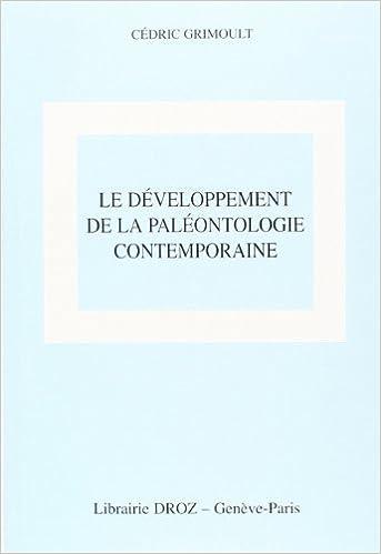 Livre gratuits Le Développement de la paléontologie pdf, epub