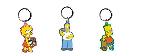 (Simpsons Lisa, Homer and Bart PVC Soft Touch Keychain)