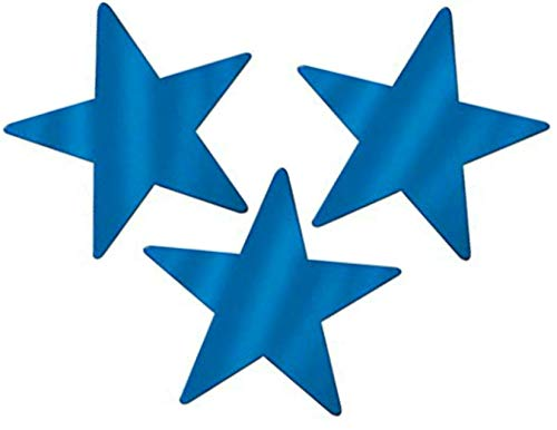 - Blue Foil Star Cutouts - 9 Inch, 40 Count