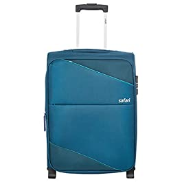 Safari Polyester 54 cms Teal Softsided Cabin Luggage (TILT552WTEA)