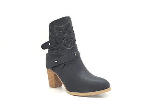 NANA Black Chelsea Damen Boots CHIC 1qPw70P