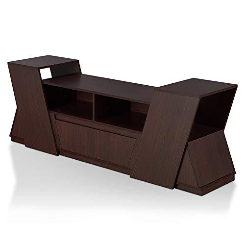 """Furniture of America Zora 71"""" TV Stand in Espresso"""