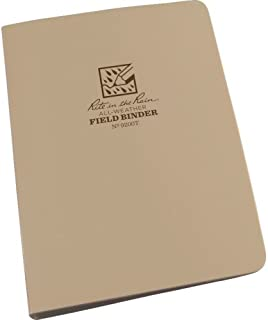 """product image for 1/2"""" Six Ring Field Round Binder,Tan"""