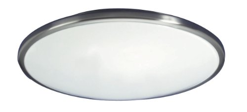 Lighting by AFX CF2022BNET Capri 1-22 Watt Flush Mount Light Fixture, Brushed Nickel with White Acrylic Diffuser ()