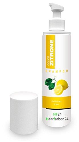 Zitrone Color Shampoo 250 ml für gefärbtes Haar - Frei von synthetischen Silikonölen und Parabenen