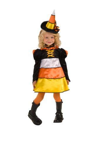 Rubie's Let's Pretend Candy Corn Witch Costume - Toddler (1-2 Years) (Halloween Costumes International Shipping)