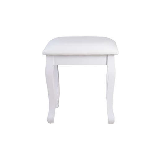 home, kitchen, furniture, bedroom furniture,  vanities, vanity benches 8 on sale Organizedlife White Vanity Stool Padded Makeup Chair Bench promotion