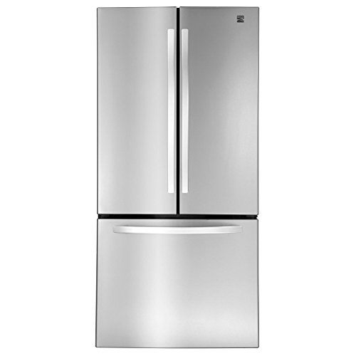 Price comparison product image Kenmore 71313 23.9 cu. ft. Wide French Door Bottom Freezer Refrigerator in Stainless Steel,  includes delivery and hookup