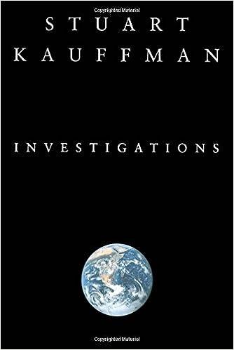 Investigations Stuart A Kauffman 40 Amazon Books Classy Don Kauffman's Sewing Machines