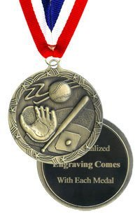 QuickTrophy Softball Medal - Engraved Economy Style ()