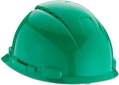 3M H700NGP - H700 Casco con ventilación, verde, arnés de ruleta ...