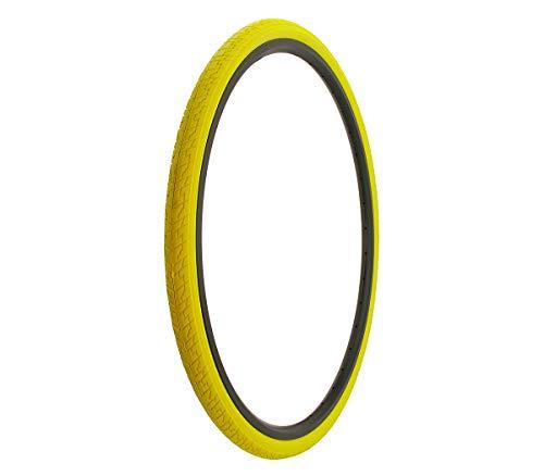Yellow Cross Pattern (Alta Bicycle Tire Duro 700 x 35c Bike Tire Cross Ranger Road Bike Pattern (Yellow))